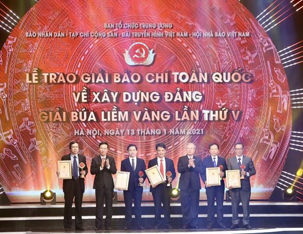VietnamPlus duoc xuong ten tai Giai bao chi toan quoc ve Xay dung Dang hinh anh 3