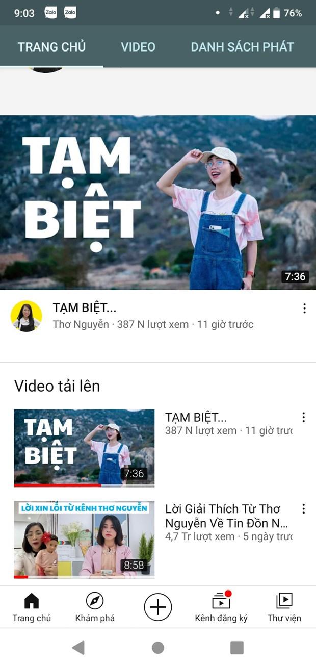 Kenh YouTube Tho Nguyen an toan bo clip san xuat trong 5 nam qua hinh anh 2