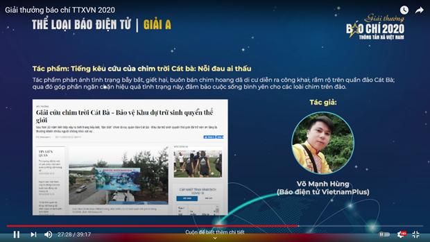 Giai Bao chi TTXVN: VietnamPlus doat giai A The loai Bao dien tu hinh anh 3