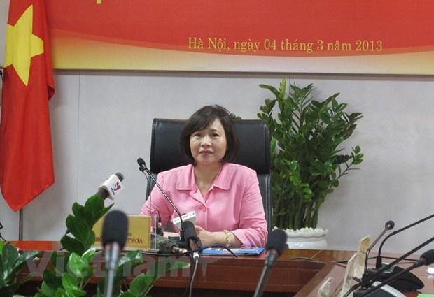 Bo Cong Thuong: Ba Ho Thi Kim Thoa nghi huu huong che do tu thang 9 hinh anh 1