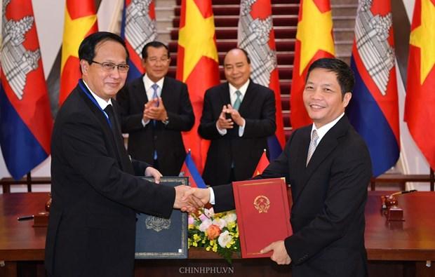 Ket thuc dam phan Hiep dinh Thuong mai bien gioi Viet Nam-Campuchia hinh anh 1