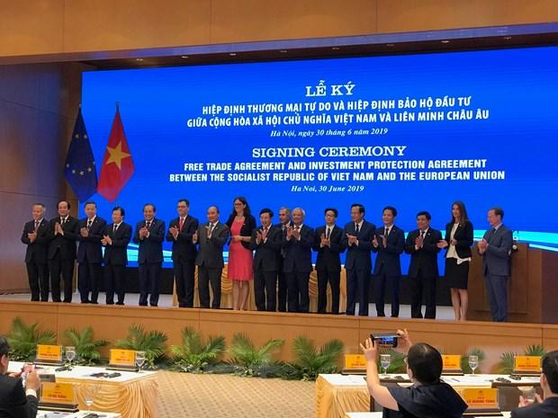 Ký kết EVFTA-EVIPA: Thúc đẩy mạnh mẽ phát triển kinh tế Việt Nam-EU - Ảnh 1.