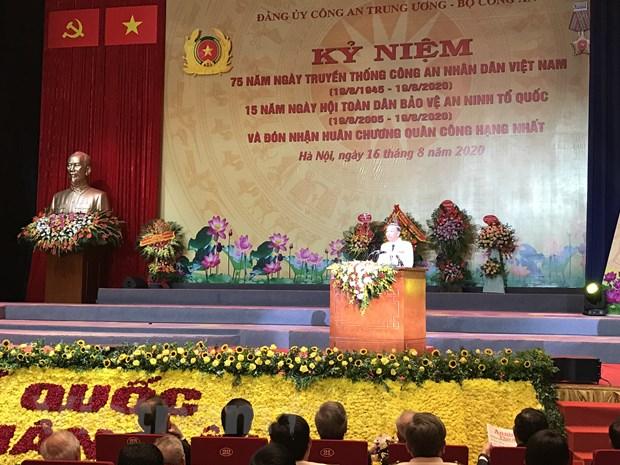 75 nam truyen thong Cong an nhan dan Viet Nam: Rang ro trang su vang hinh anh 1