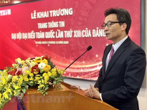 TTXVN ra mat trang thong tin dac biet ve Dai hoi Dang lan thu XIII hinh anh 2