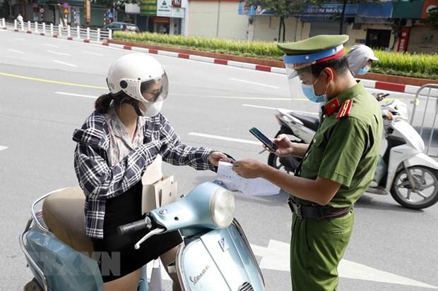 Cong an Ha Noi thong tin chinh thuc viec cap Giay di duong tai vung 1 hinh anh 1