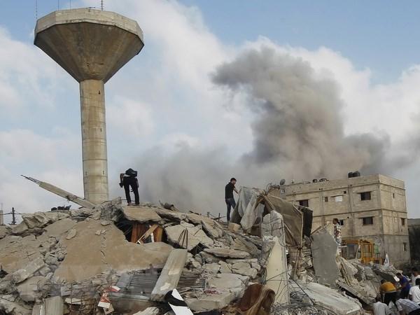 Israel na phao vao truong hoc o Gaza, 20 nguoi thiet mang hinh anh 1