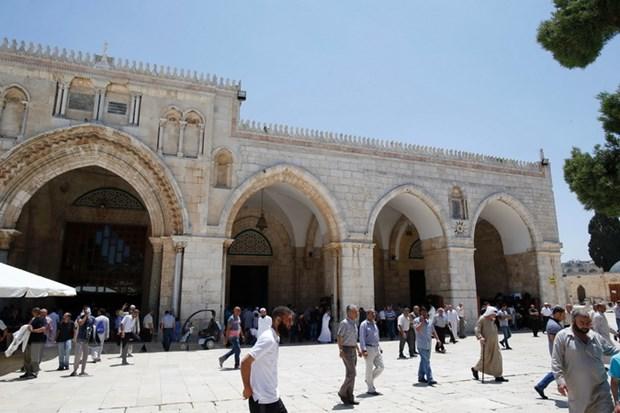 Israel cam quan chuc dang Fatah cua Palestine toi den tho Al-Aqsa hinh anh 1