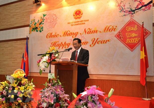 Cong dong nguoi Viet tai Campuchia han hoan don Xuan Dinh Dau 2017 hinh anh 2