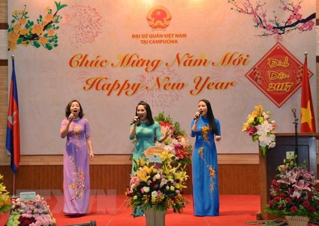 Cong dong nguoi Viet tai Campuchia han hoan don Xuan Dinh Dau 2017 hinh anh 1