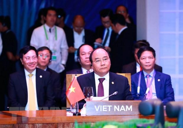 Thu tuong Nguyen Xuan Phuc gap Thu tuong Vuong quoc Thai Lan hinh anh 1