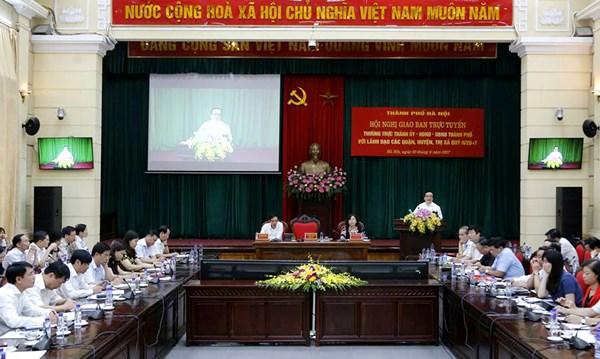 Bi thu Ha Noi: Quyet liet hanh dong de Ha Noi la thanh pho dang song hinh anh 1