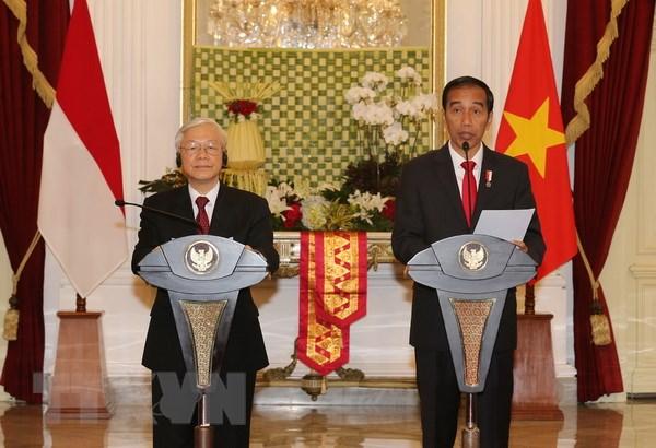 Tong Bi thu Nguyen Phu Trong hoi dam voi Tong thong Joko Widodo hinh anh 2