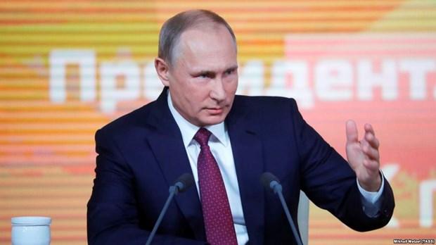 Hon 1.600 nguoi du cuoc hop bao lon thuong nien cua Tong thong Putin hinh anh 1