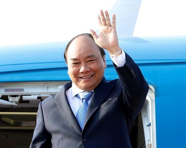Thu tuong Nguyen Xuan Phuc ket thuc tot dep chuyen cong tac tai Lao hinh anh 1