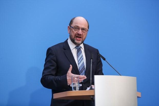 Chu tich SPD Martin Schulz tu bo y dinh tro thanh ngoai truong Duc hinh anh 1
