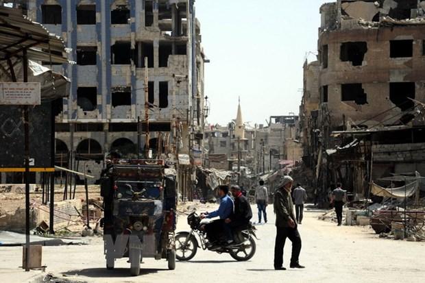 Nga: Tim thay vu khi hoa hoc Duc va luu dan khoi Anh tai Syria hinh anh 1
