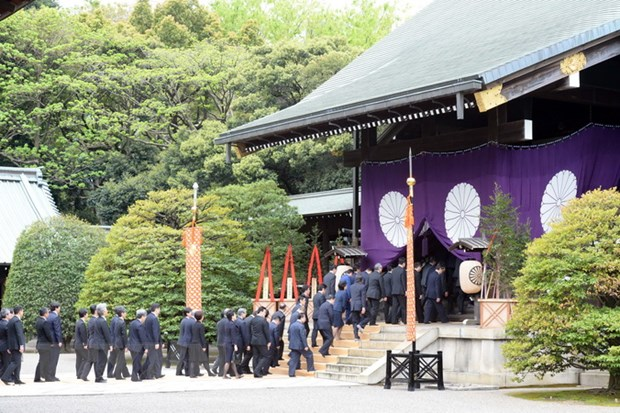 Trieu Tien phan doi cac chinh tri gia Nhat Ban vieng den Yasukuni hinh anh 1