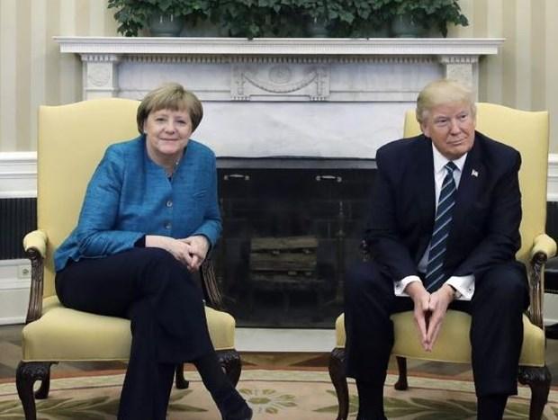 Thu tuong Duc Angela Merkel toi My hoi dam voi Tong thong Trump hinh anh 1