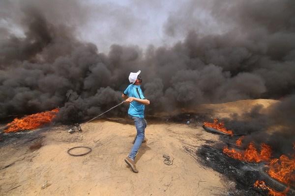 Quan doi Israel no sung o Dai Gaza, gan 200 nguoi bi thuong hinh anh 1