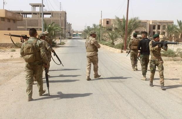 May bay chien dau F-16 cua Iraq khong kich muc tieu IS tai Syria hinh anh 1