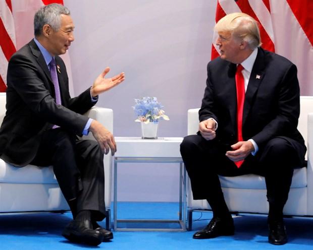 Tong thong My Donald Trump gap Thu tuong Singapore Ly Hien Long hinh anh 1