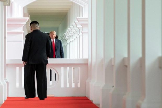 Tong thong Trump khang dinh se tiep tuc duy tri trung phat Trieu Tien hinh anh 1