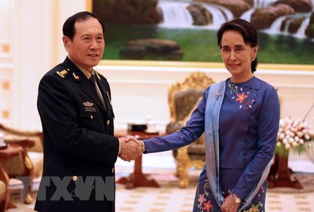 Trung Quoc, Myanmar cam ket duy tri quan he lang gieng gan gui hinh anh 1
