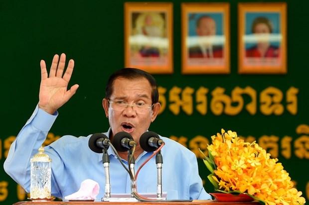Quoc vuong Campuchia bo nhiem ong Hun Sen lam Thu tuong nhiem ky 5 nam hinh anh 1
