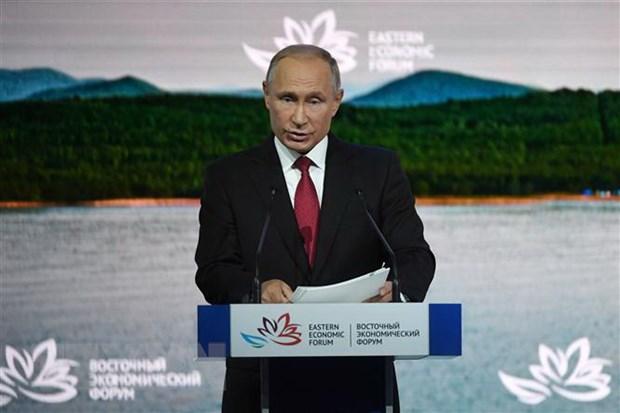 Tong thong Nga Putin keu goi duy tri tu do kinh te, phan doi bao ho hinh anh 1