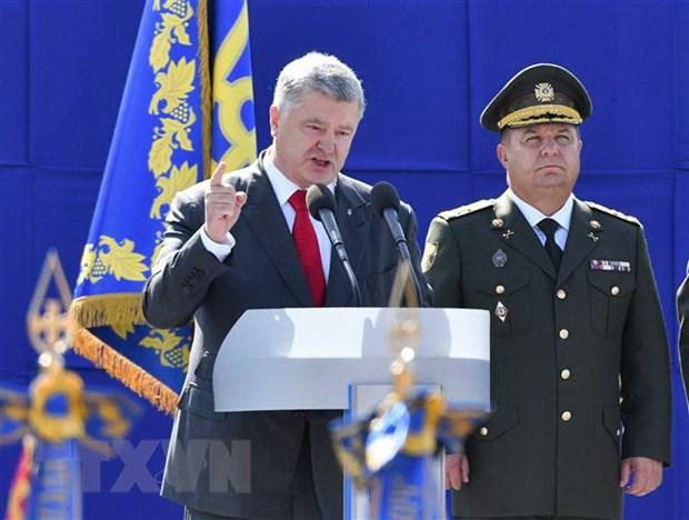 Tong thong Ukraine Poroshenko de xuat ban bo tinh trang chien tranh hinh anh 1
