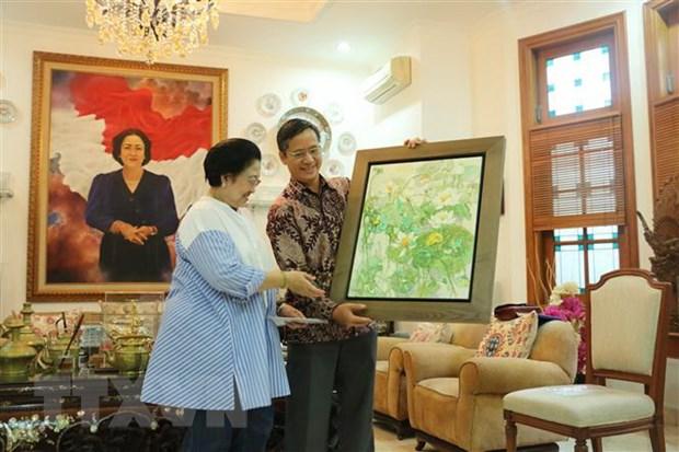 Dai su Viet Nam tai Indonesia chao xa giao nguyen Tong thong Indonesia hinh anh 1