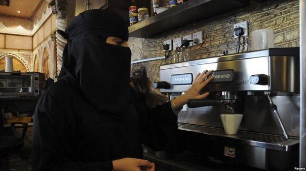 Phu nu Saudi Arabia tham gia chien dich 'doi bo mang che mat' hinh anh 1