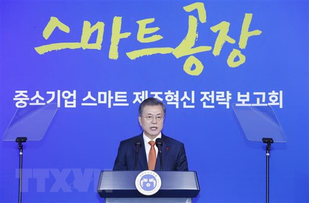 KBS: Ty le ung ho Tong thong Han Quoc Moon Jae-in tiep tuc giam hinh anh 1