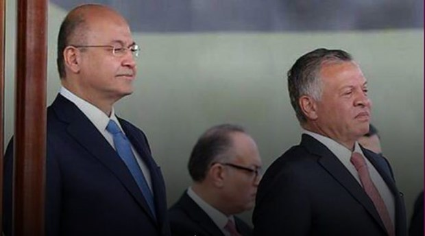 Quoc vuong Jordan Abdullah II tham Iraq sau hon mot thap ky hinh anh 1