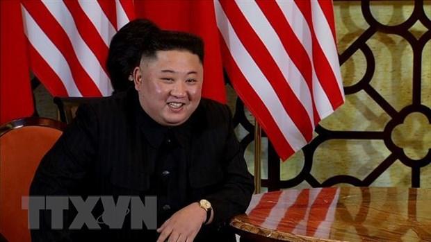 Bao Trieu Tien ca ngoi ong Kim Jong-un sau cuoc hop tai Ha Noi hinh anh 1