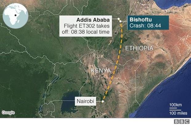Ethiopian Airlines xac nhan toan bo 157 nguoi tren may bay thiet mang hinh anh 1