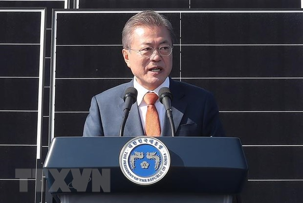 Ty le ung ho Tong thong Han Quoc Moon Jae-in thap ky luc hinh anh 1