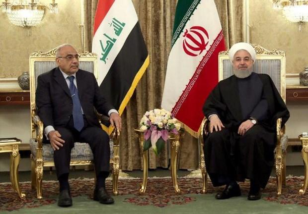 Thu tuong Iraq lan dau tien tham Iran, hoi dam voi Tong thong Rouhani hinh anh 1