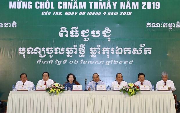 Thu tuong: Quan tam cham lo tet Chol Chnam Thmay cho dong bao Khmer hinh anh 1