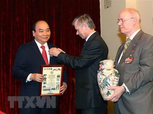 Thu tuong Nguyen Xuan Phuc gap go Hoi huu nghi Nga-Viet hinh anh 1