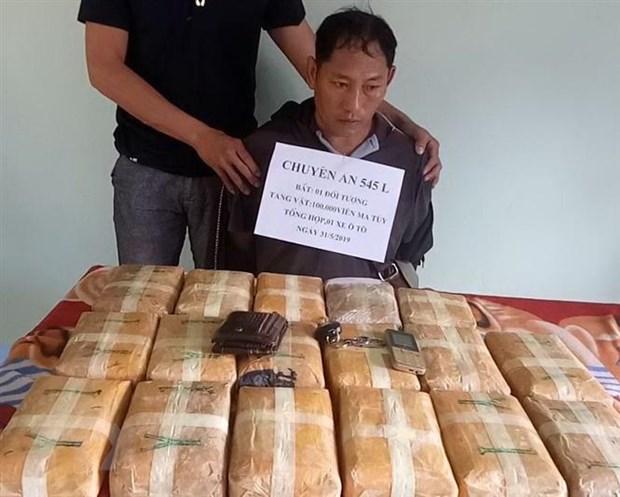Quang Binh: Bat doi tuong van chuyen hon 100.000 vien ma tuy tong hop hinh anh 1