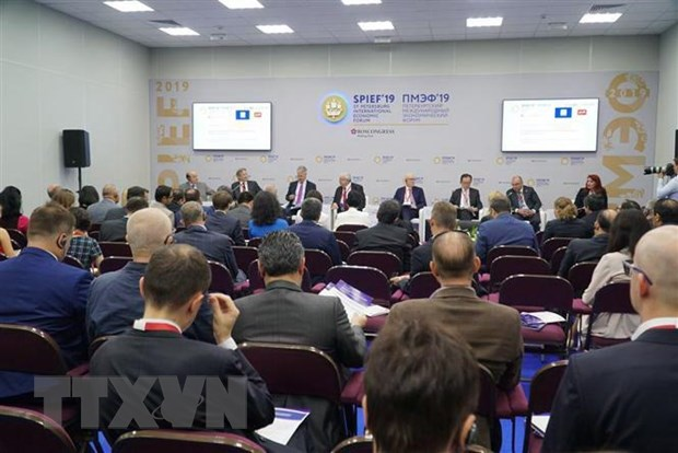 TTXVN tham du Dien dan Kinh te Quoc te Saint-Petersburg 2019 hinh anh 1