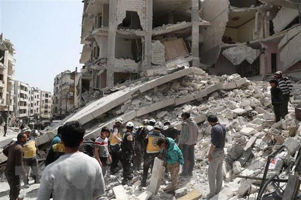 Giao tranh tai dien o Tay Bac Syria, hang chuc tay sung thiet mang hinh anh 1