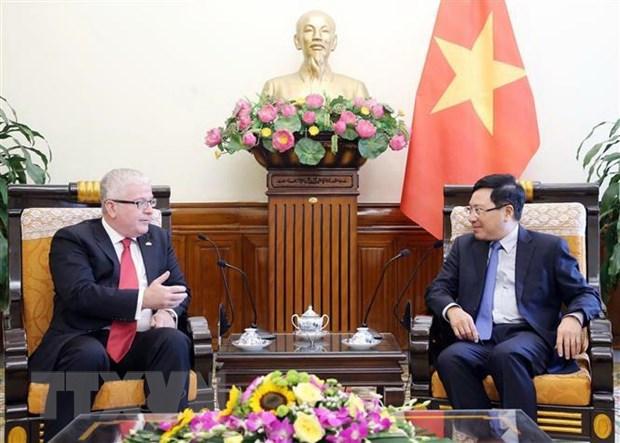 Pho Thu tuong Pham Binh Minh tiep Dai su Australia chao tu biet hinh anh 1