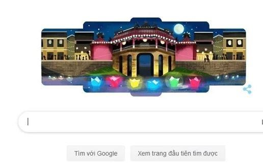 Le hoi Den long Hoi An 'thap sang' trang chu cua Google hinh anh 1