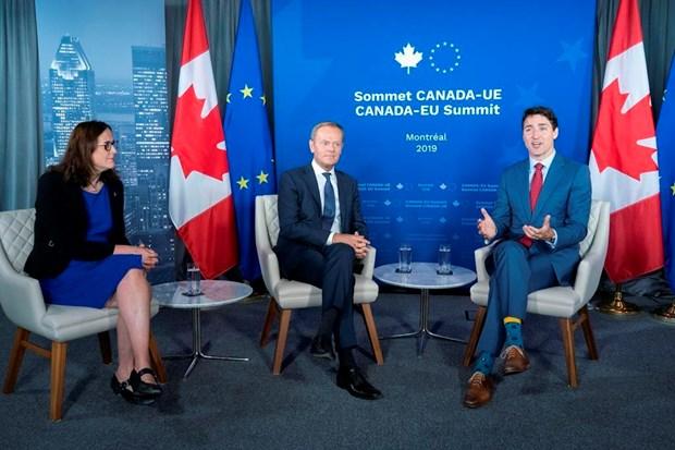 CETA la chu de 'nong' tai Hoi nghi thuong dinh EU-Canada hinh anh 1