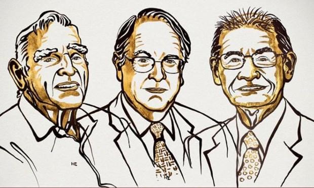 John B Goodenough, M Stanley Whittingham và Akira Yoshino nhận giải Nobel Hóa học năm 2019. Nguồn: theguardian.com