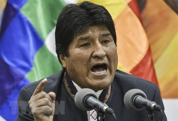 Nha lanh dao Evo Morales gui thong diep dau tien sau khi tu chuc hinh anh 1