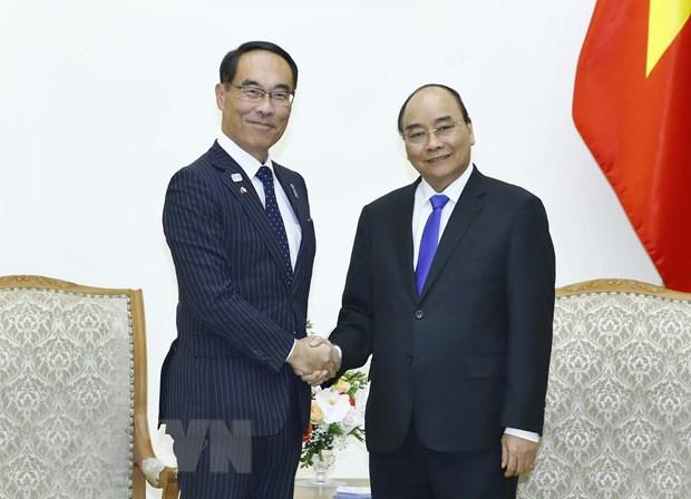 Thu tuong Nguyen Xuan Phuc tiep Thong doc tinh Saitama cua Nhat Ban hinh anh 1