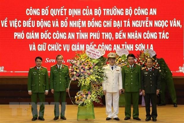 Cong bo quyet dinh dieu dong va bo nhiem Giam doc Cong an tinh Son La hinh anh 1